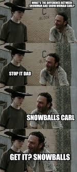Walking Dead Rick Crying Meme - 18 terrible rick grimes dad jokes dad jokes rick grimes and