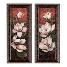 wall magnolia branch panels set of 2 celebrating home direct