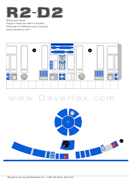 R2d2 Printable Template dave hax s r2d2 templates