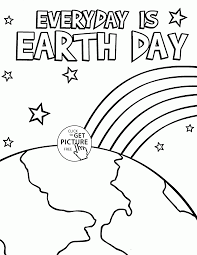 everyday is earth day coloring page for kids coloring pages