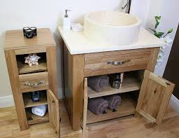 Shabby Chic Bathroom Vanity Unit by Solid Oak Bathroom Furniture Slim Small Cabinet Cupboard Storage