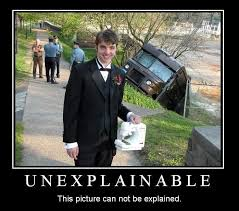 Tuxedo Meme - the guy holding a sewing machine in front of a ups truck accident