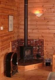 Interior Log Home Pictures by Corrugated Tin Heat Shield Wood Stove Pinterest Corrugated