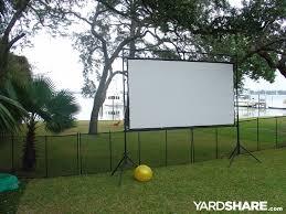 Backyard Theater Ideas Landscaping Ideas U003e Outdoor Theater Yardshare Com