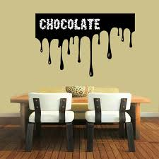 chocolate wall decals quotes chocolate splash kitchen cafe bar