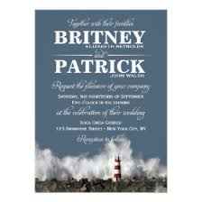 Wedding Invitations Nautical Theme - lighthouse wedding invitations custom wedding invitations online