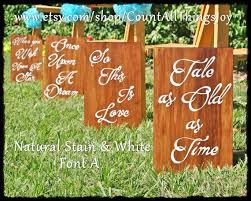 wedding quotes signs custom disney wedding aisle signs set of 8 quotes for