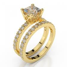 gold wedding ring sets swarovski pb wedding bridal set princess premier 1