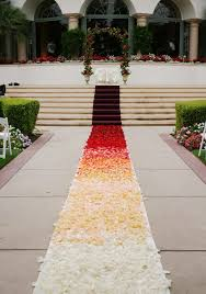 aisle runners ombre aisle runner custom design flower petals are not
