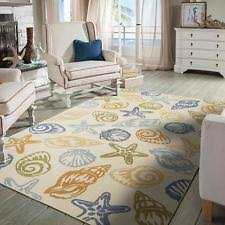 Area Rugs Tropical Theme Seashell Rug Ebay