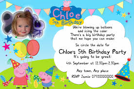 peppa pig birthday party invitation template free cogimbo us