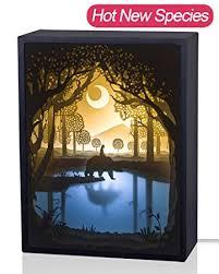 3d Lamps Amazon Amazon Com Papercut Light Boxes 3d Shadow Box Led Light Night