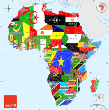 africa map color flag simple map of africa single color outside