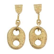 golden earrings carlo zini golden earrings for sale at 1stdibs