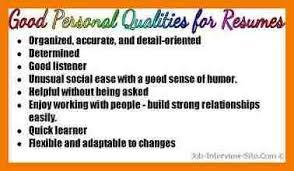 Resume Qualities 11 Skills And Abilities Resume Examples Mbta Online