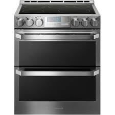 electric kitchen appliances lg lute4619sn lg signature electric double oven slide in range