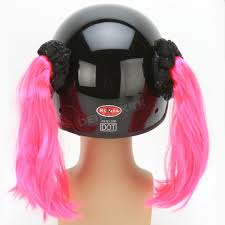 pink motocross helmets helmets inc pink motorcycle helmet pigtails pt107 atv dirt bike