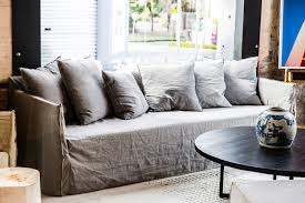 Ikea Hovas Sofa Slipcover Beautify Your Ikea Sofa With Custom Long Skirt Slipcovers