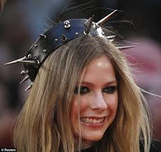 spiked headband avril lavigne wears heavily spiked headband to canadian