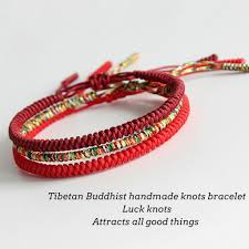 lucky red string bracelet images Handmade knots lucky rope bracelet protection kundalinispirit jpg