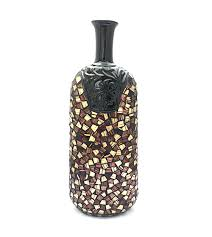 Mosiac Vase Black Brown Oriental Mosaic Vase Large Dks