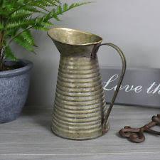 Metal Jug Vase Country Pitcher Jug Vases Ebay
