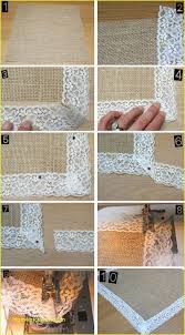 how to make table runner at home beautiful burlap and lace table runner home furniture and