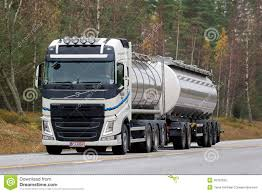volvo trailer price white volvo fh tank truck on the road editorial image image