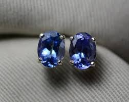 tanzanite stud earrings tanzanite earrings etsy