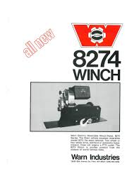 warn industries the history of the warn m8274 winch