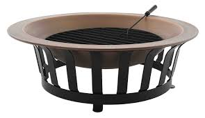 Copper Firepits Titan 40 Solid 100 Copper Pit Bowl Wood