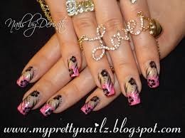 pretty in pink valentines day hearts french tips nail art design