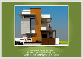 Row House Front Elevation - east facing house front elevation single villa for 2bhk front