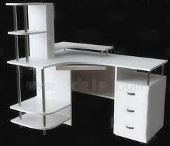 bureau ordinateur blanc bureau console extensible 2 en 1 bureau touch bureau informatique