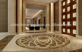 decorative name water jet marble pattern medallion floor