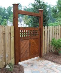 Outdoor Fence Decor Ideas by Images About Garden Gates Wooden Fence With Designer Outdoor Gate