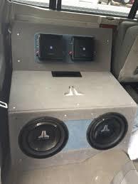 nissan titan sub box best custom loaded subwoofer box for nissan titan crew cab for