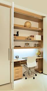 hidden home office furniture having a desk area that can be completely closed up and locked