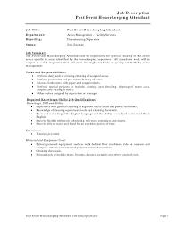 housekeeping resume hospital sidemcicek com