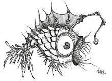 joseph szymanski pen and ink drawings sea creature 1 art