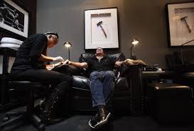 putting the u0027man u0027 in manicure new mani pedi salon offers a