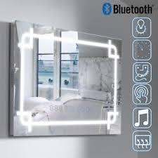 bluetooth bathroom mirror led bluetooth bathroom mirror wall mounte light with touch clock
