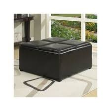 Simpli Home Avalon Storage Ottoman Avalon Coffee Table Storage Ottoman With 4 Serving Trays Fawn