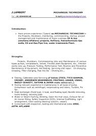 Mechanical Technician Resume Mechanical Resume 1