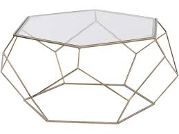 gold glass coffee table hexagonal glass coffee table gold metal frame coffee table libra