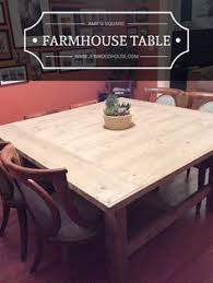 how to build a diy square farmhouse table plans farmhouse table