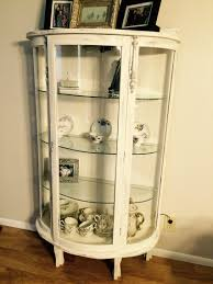 curio cabinet white painted display cabinet small living room