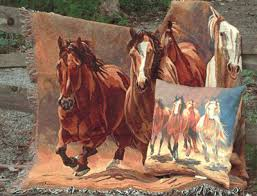 western throws for sofas horse lover gifts throw blankets personalized embroidered