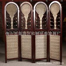 rattan wood wall partition rattan cane rattan furniture combined