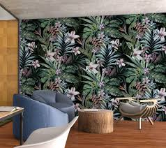 Temp Wallpaper by Botanical Removable Wallpaper Floral Wallpaper Peel U0026
